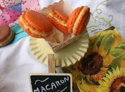 Macarons fruta pasión queso mascarpone. homenaje.
