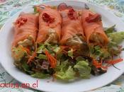 Rollitos salmón ensaladilla