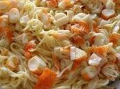 Espaguetis surimi