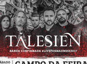 Talesien confirmados live madness metal fest