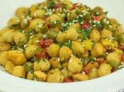 Garbanzos pimientos. Receta vegetariana garbanzos verduras