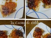 Tortilla salsa tomate brotes remolacha