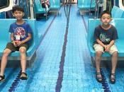 Transforman vagones metro Taiwán piscina para Juegos Universitarios 2017