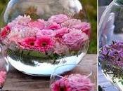 Peceras para mesa flores flotantes- truco casero