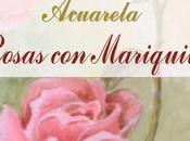 Acuarela Rosas mariquita