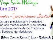 Karate Tradicional Yoga Sala Málaga partir Septiembre 2017.