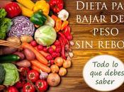Dieta para bajar peso rebote