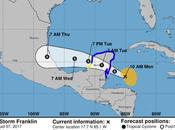 Ciclón Frankilin afectará Belize Península Yucatán, México.