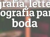Caligrafía, Lettering Tipografía para Boda