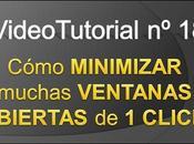 Videotutorial Cómo minimizar ventanas click