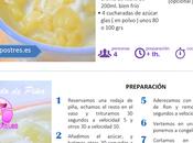 fichas recetas coleccionables: helado piña natillas caseras