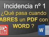 Video Incidencia pasa cuando abres WORD