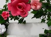 Rosas papel para boda