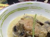 Pollo salsa nata champis