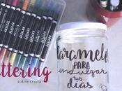 DIY: Bote para caramelos lettering