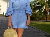 Zara blue jumpsuit outfit