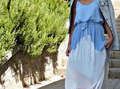 Remaining summer: light blue maxidress