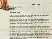 carta Disney 1938 donde rechaza solicitud empleo tratarse mujer