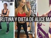 Rutina dieta Alice Matos m...
