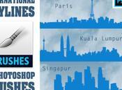 Pack Pinceles para Photoshop Skylines Internacionales