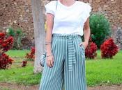 Zara striped culottes outfit