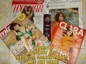 Revistas Octubre 2017 (Regalos, suscripciones viene)