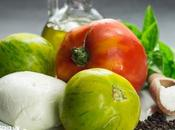 Receta ensalada caprese tomates corazón buey green zebra
