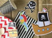 Imprime fiesta pirata busca tesoro escondido