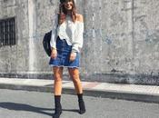 Mini falda vaquera botones