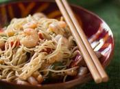 Cómo preparar noodles gambas. Receta china para fiesta Medio Otoño Chino.