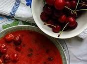 Sopa cerezas ácidas
