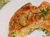 Tortilla calabacín jamón ibérico