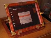 Compró laptop Ebay transformó Laptop madera estilo Steampunk