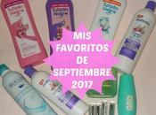 favoritos Septiembre 2017