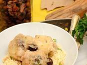 Pollo salsa especias cous