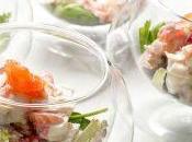 Ensalada merluza, salmón gambas
