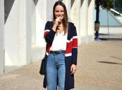 Outfit Tricolor cardigan