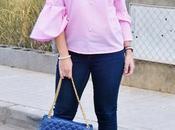 Blusa rosa perlas