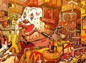 Unas ilustraciones muestran realidad personajes grandes marcas fast food