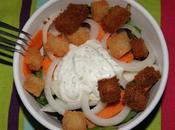 Ensalada melón zanahoria salsa yogur