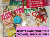 Revistas Noviembre 2017 (Regalos, suscripciones viene)