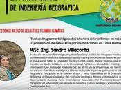 MSc. Sandra Villacorta expone Foro Nacional Ingenieria Geográfica UNMSM