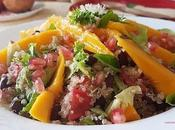 Ensalada quinoa mango granada #lunessincarne