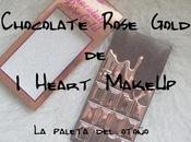 Chocolate Rose Gold Heart MakeUp paleta otoño