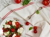 Ensalada cherrys mozzarella búfala