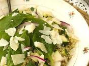 Ensalada quinoa, calabacin parmesano