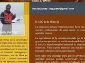 Cursos #MinerLima2017 MINERÍA PARA SOCIEDAD