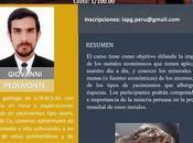 Cursos #MinerLima2017: METALES INTERÉS ECONÓMICO