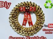 Diy. Corona Navideña Reciclando Tubos Papel Higienico