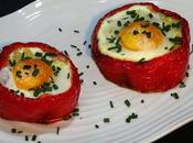 Pimiento relleno patata, bacon beicon huevo